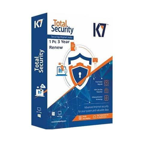 Renew K7 Total Security 1 User 3 Years
