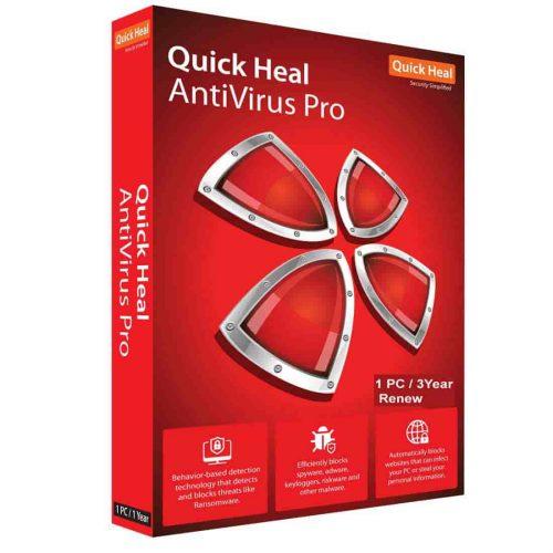 Quick Heal Antivirus Pro 1 User 3 Years Renewal