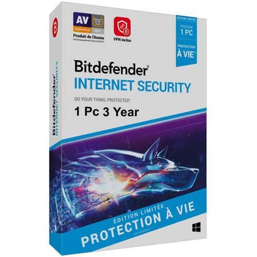 Bitdefender Internet Security 1 Pc 3 Years