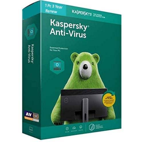 Kaspersky Antivirus 1 User 3 Years Renewal