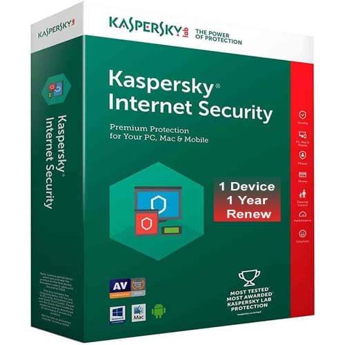 Kaspersky Internet Security 1 User 1 Year Renewal
