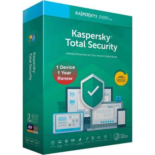 Kaspersky Total Security 1 User 1 Year Renewal