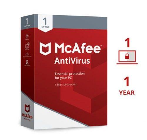 McAfee Antivirus 1 User 1 Year