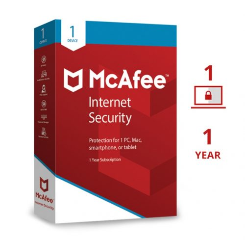 Mcafee Internet Security 1 User 1 Year