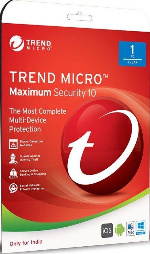 Trend Micro Maximum Security 1 User 1 Year